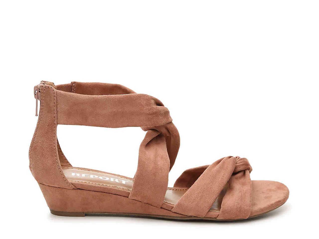Jenny Wedge Sandal in Mauve (Purple) - Lyst