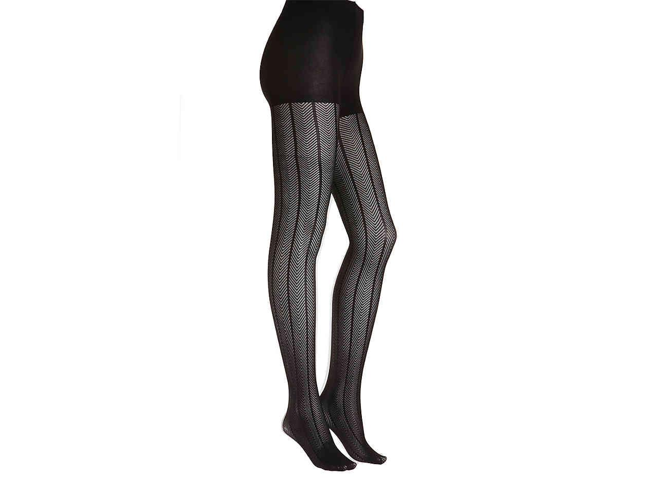 8a40b589d98 Lyst - Memoi Chevron Tights in Black