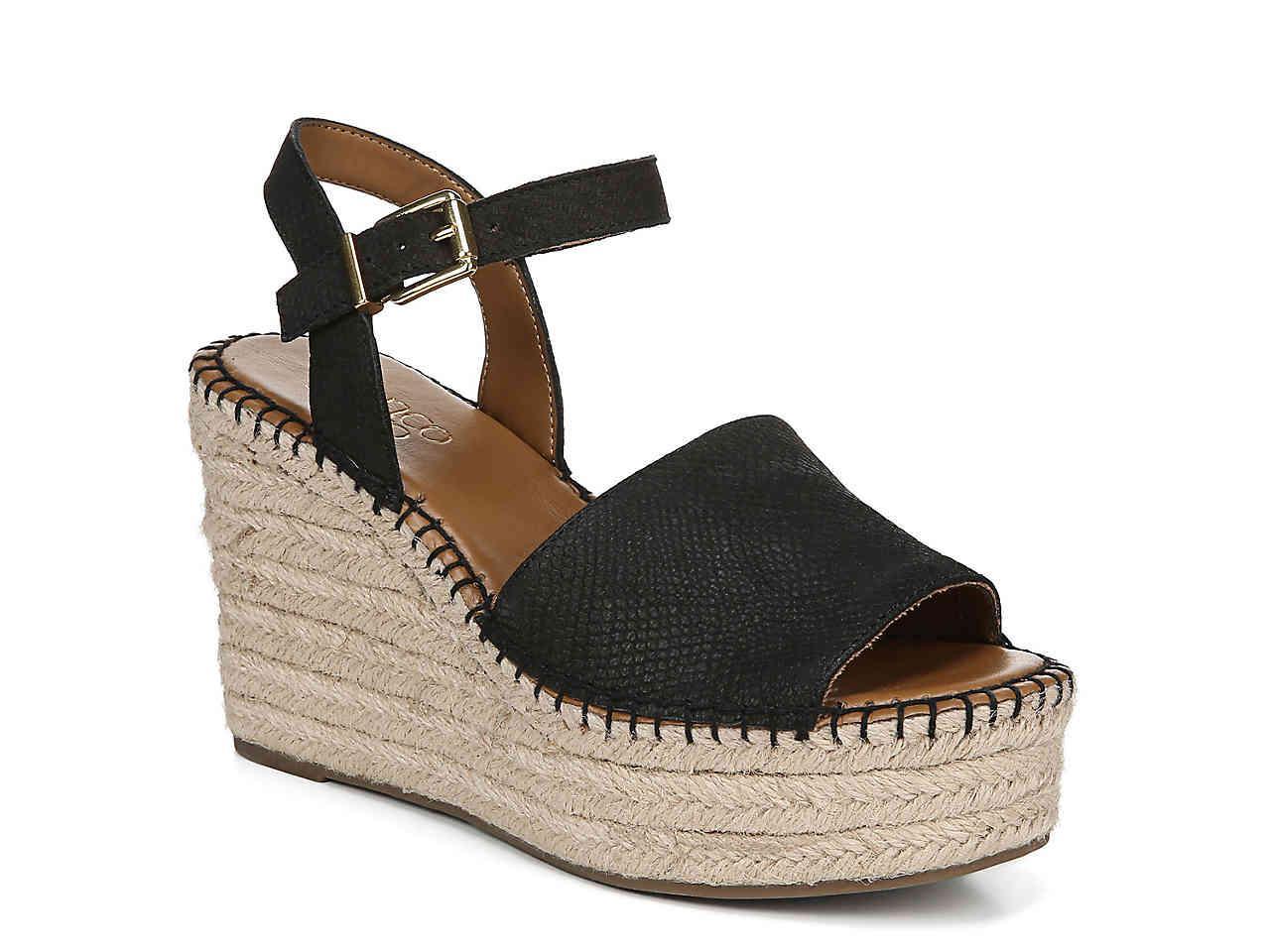 29f93a2a36d Women's Black Takara Espadrille Wedge Sandal