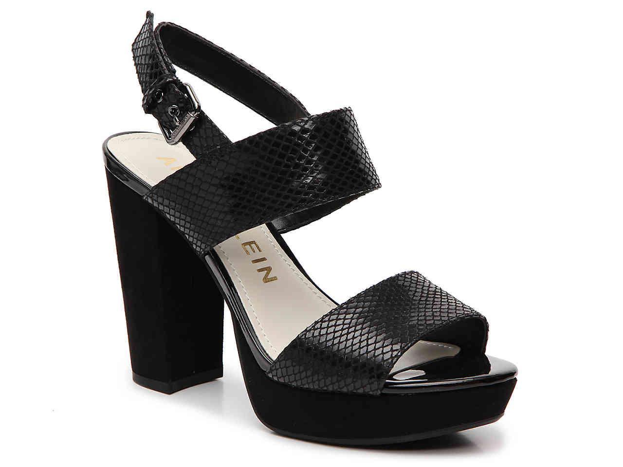 2225323342 Anne Klein Lorrie Platform Sandal in Black - Lyst