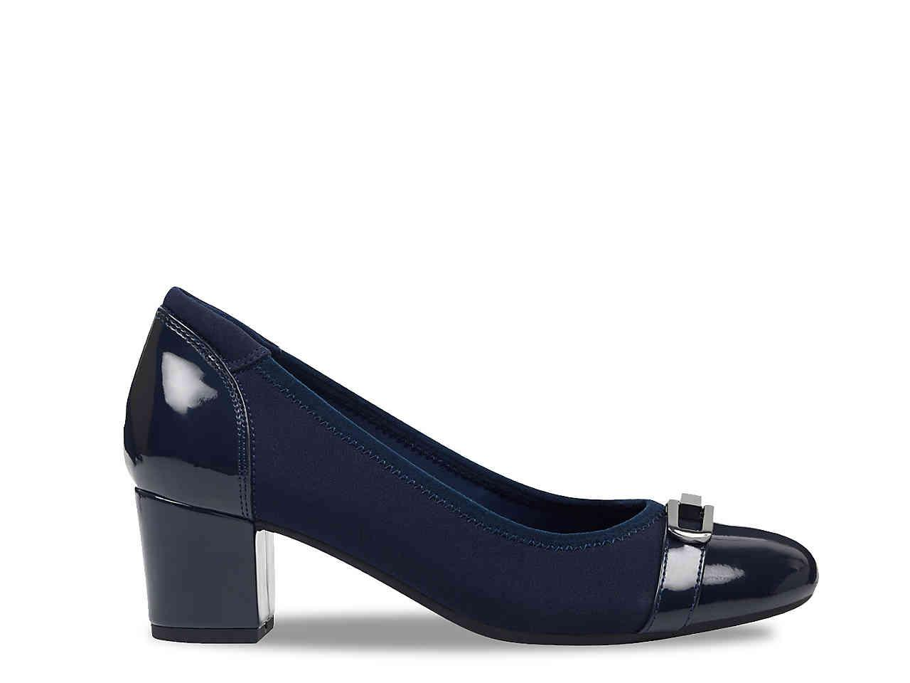 cf48b65f36af Easy Spirit - Blue Glenda Pump - Lyst. View fullscreen