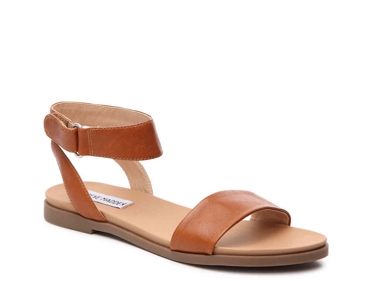 8c947465262 Lyst - Steve Madden Meghan Flat Sandal in Brown