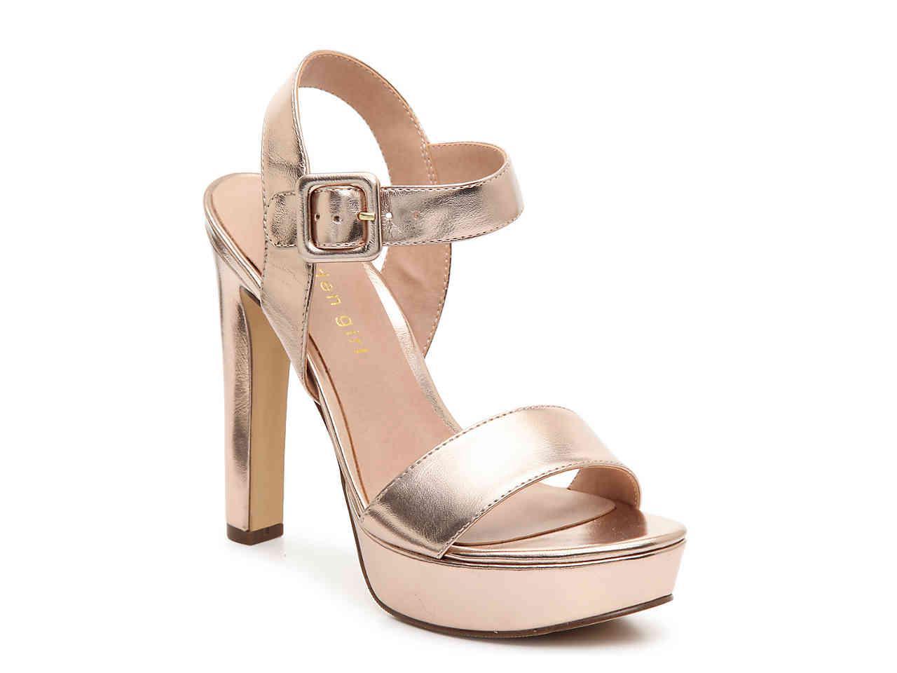 94fc72cefa86 Lyst - Madden Girl Rollo Platform Sandal in Metallic