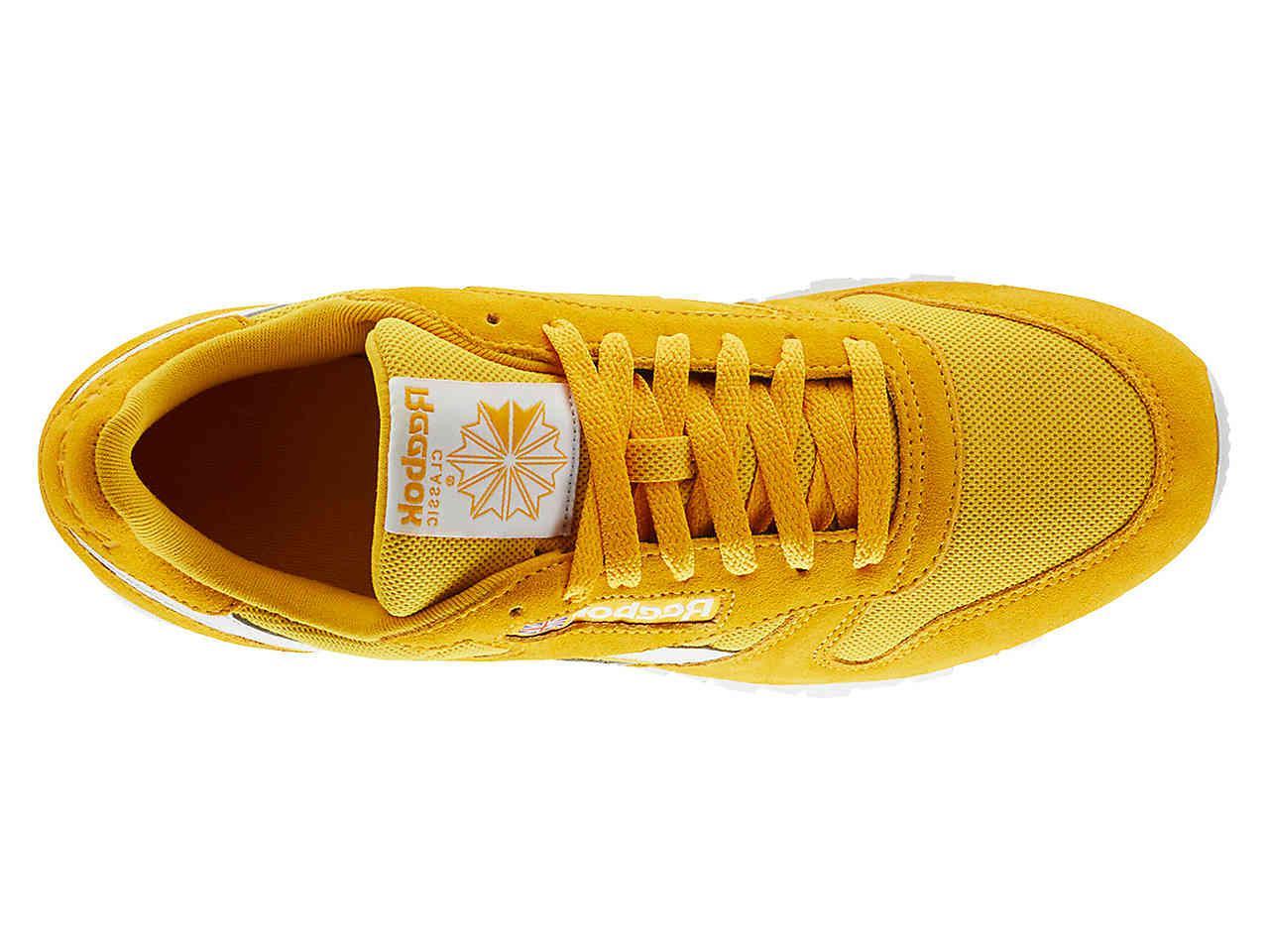 mustard color reeboks