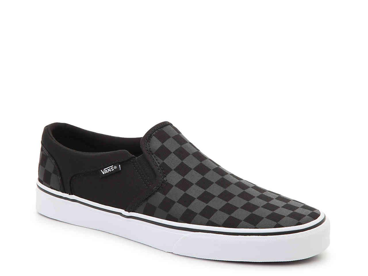 great fit discount coupon united kingdom Asher Checkered Slip-on Sneaker