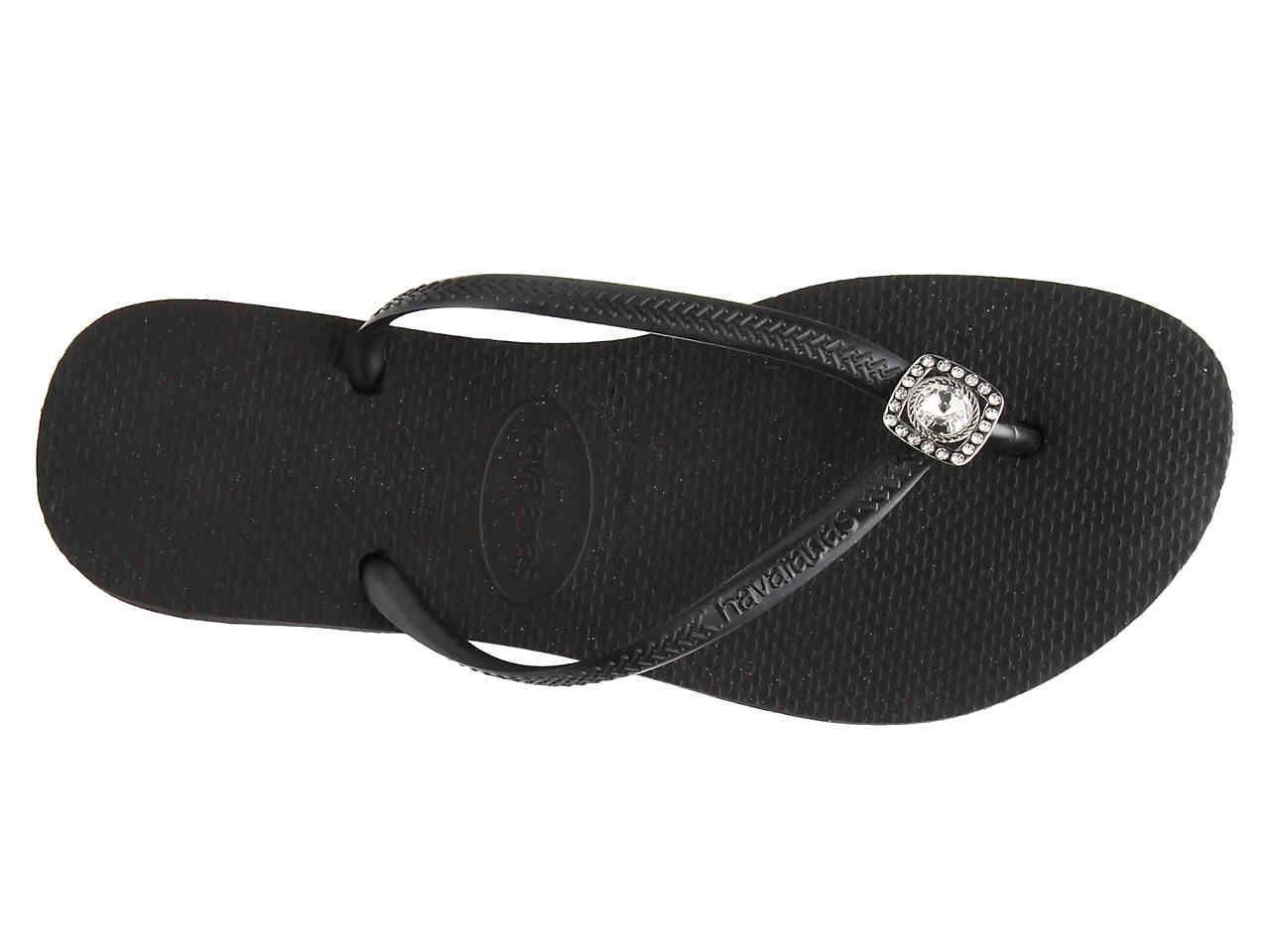 4c599c9afbbe33 Havaianas - Black Slim Jewel Flip Flop - Lyst. View fullscreen