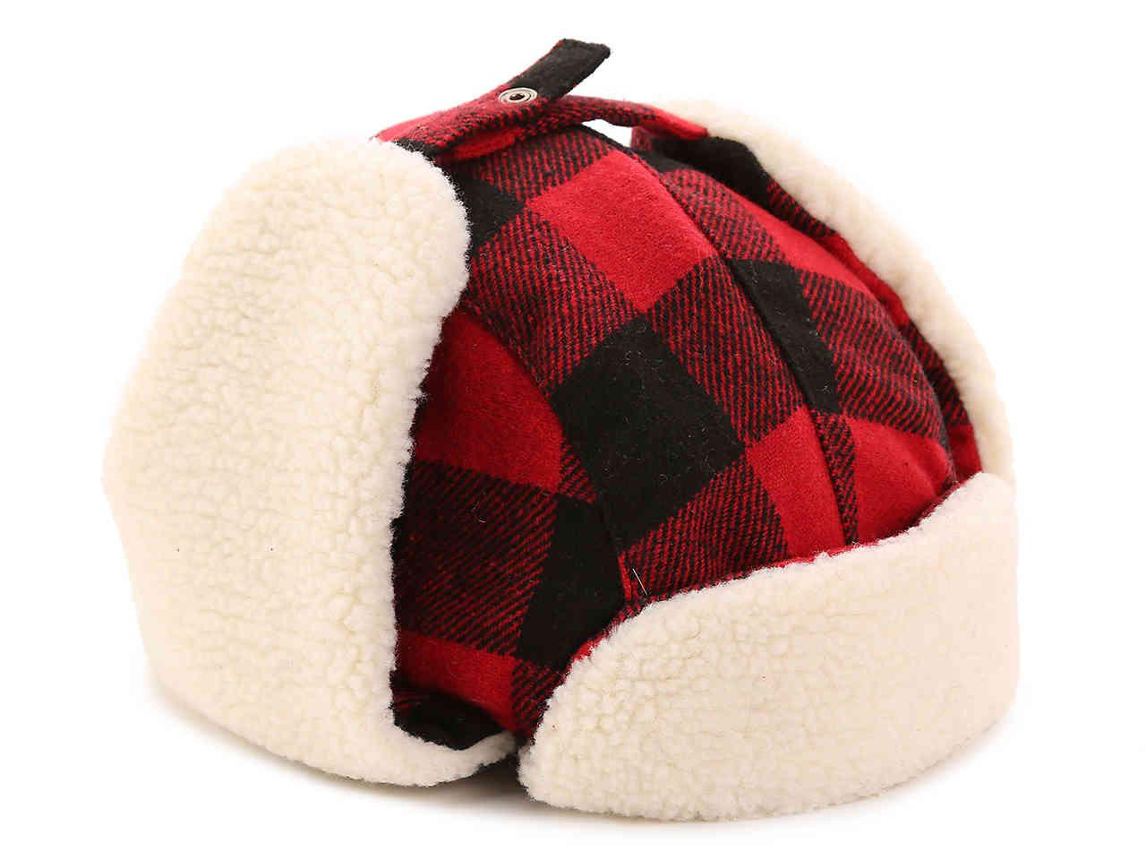 b09887e38b9 Lyst - Levi s Buffalo Check Trapper Hat in Red for Men