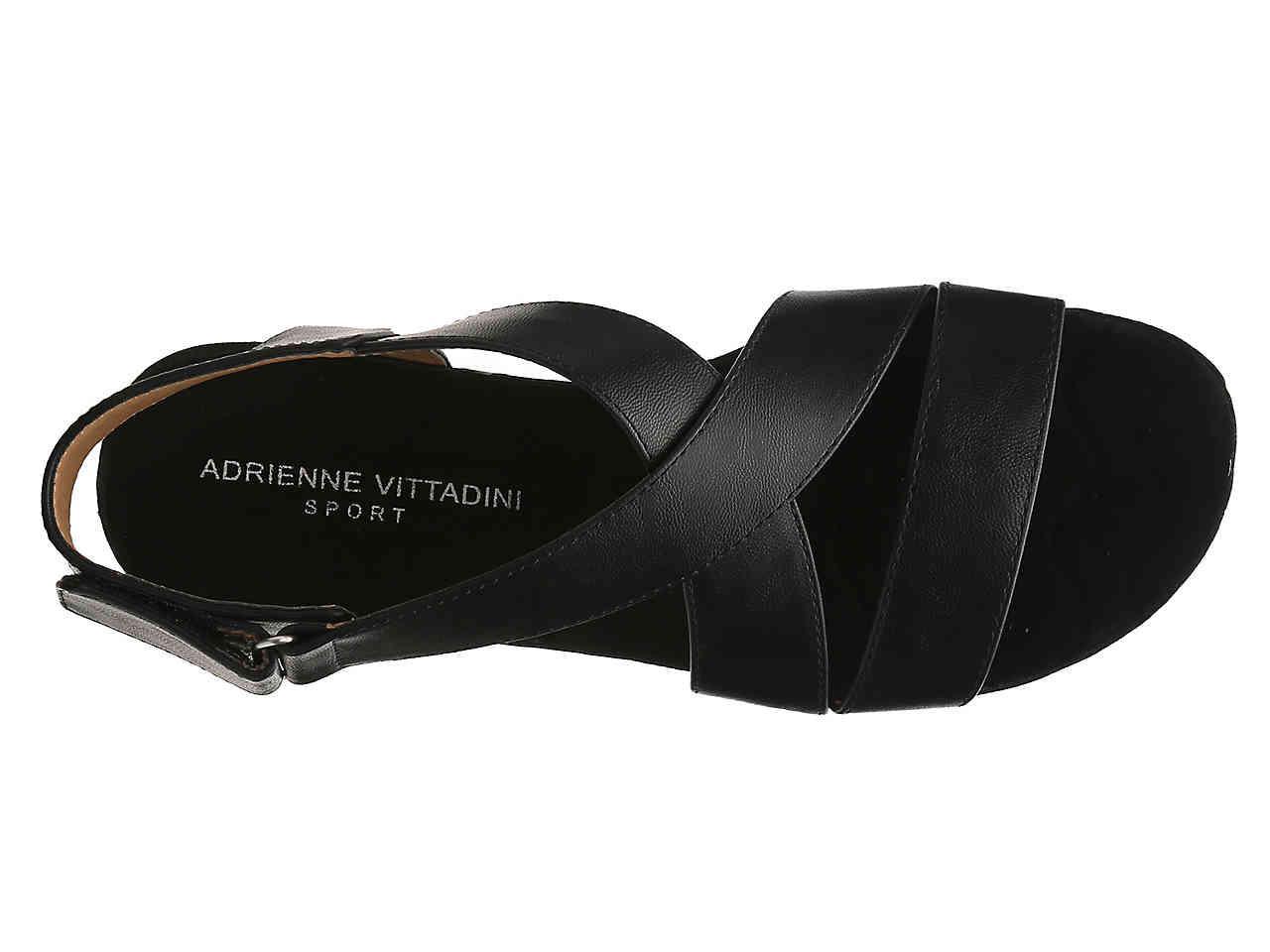 462d795d8f81 Adrienne Vittadini - Black Sport Cory Wedge Sandal - Lyst. View fullscreen