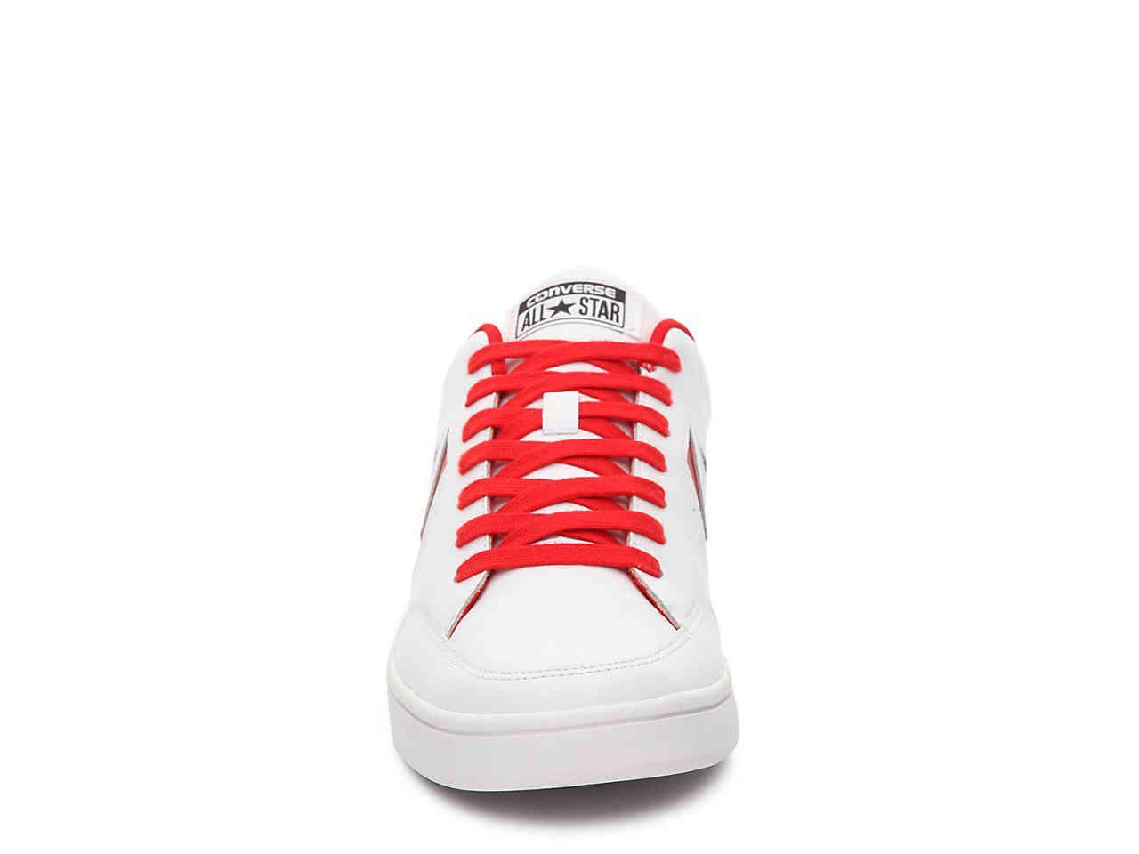 6389ac35b84e ... uk lyst converse star court sneaker in red 0a585 34537