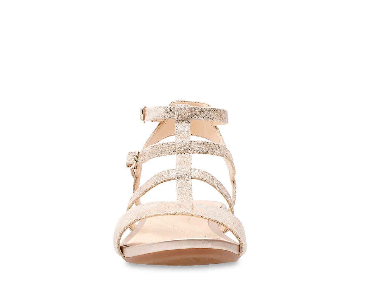 9e2297e2b7f66 Lyst - Clarks Parram Spice Gladiator Sandal in Metallic - Save 56%