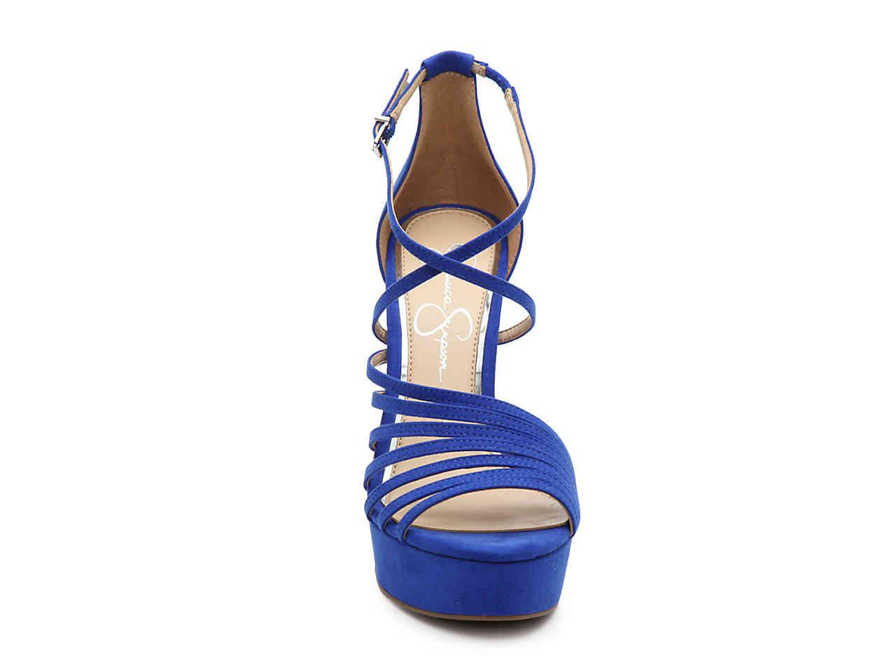 4f375dc162 Jessica Simpson Bravani Platform Sandal in Blue - Lyst