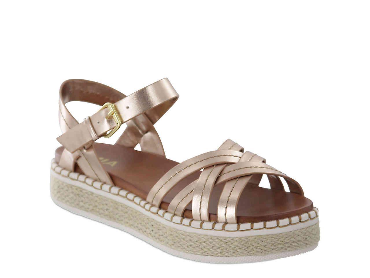 23059a220d Lyst - MIA Virginia Espadrille Platform Sandal in Metallic