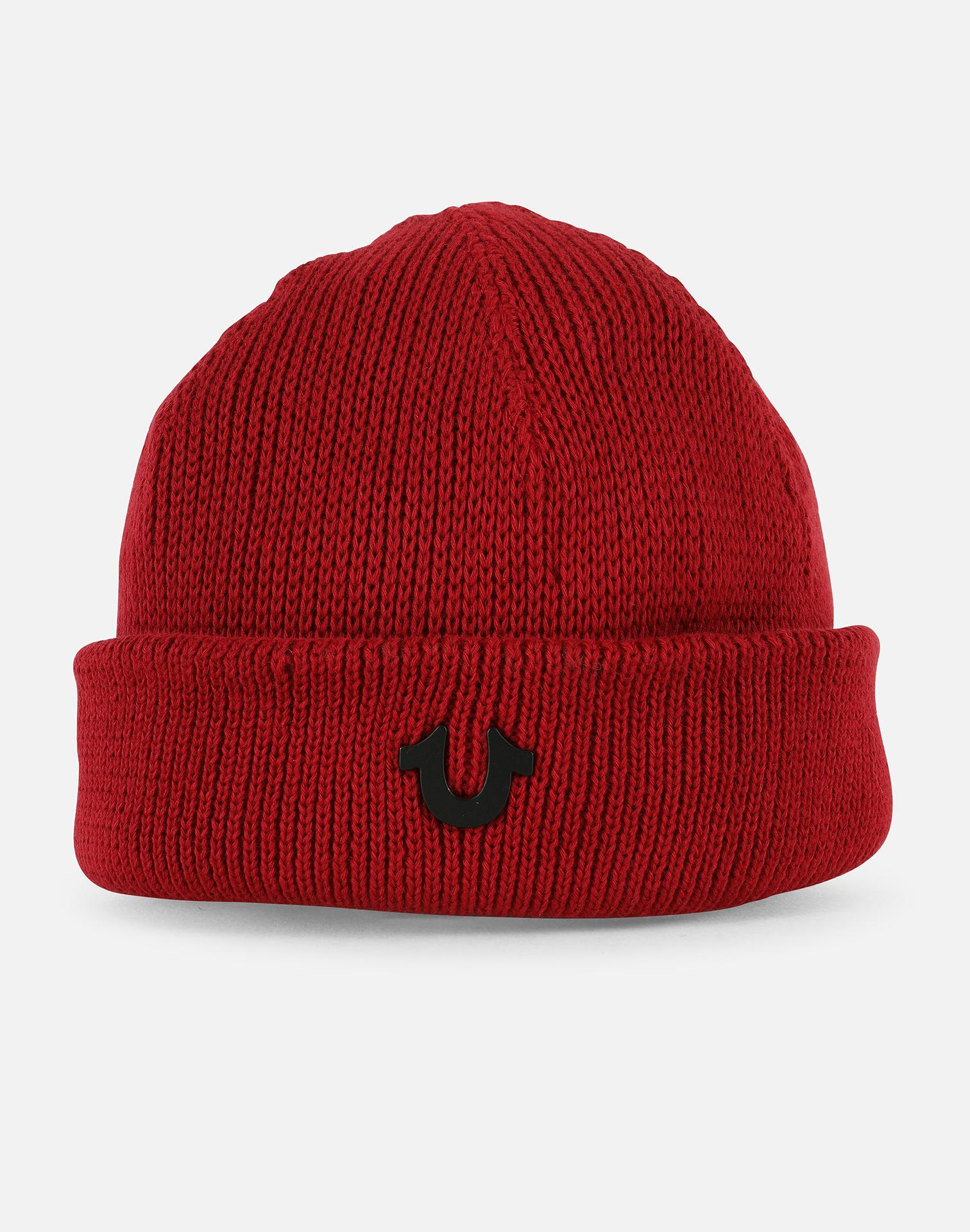 eacc5999a Men's Red Short Ribbed Knit Watchcap