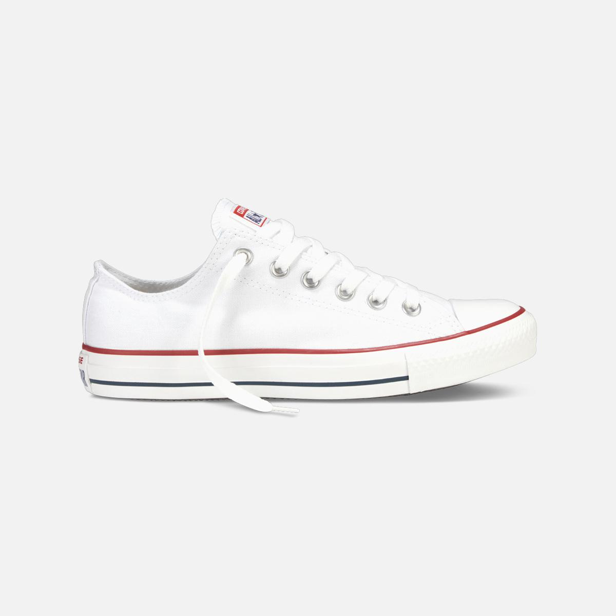b313df8a5a3 Lyst - Converse Chuck Taylor All Star Low Top-optic White in White ...