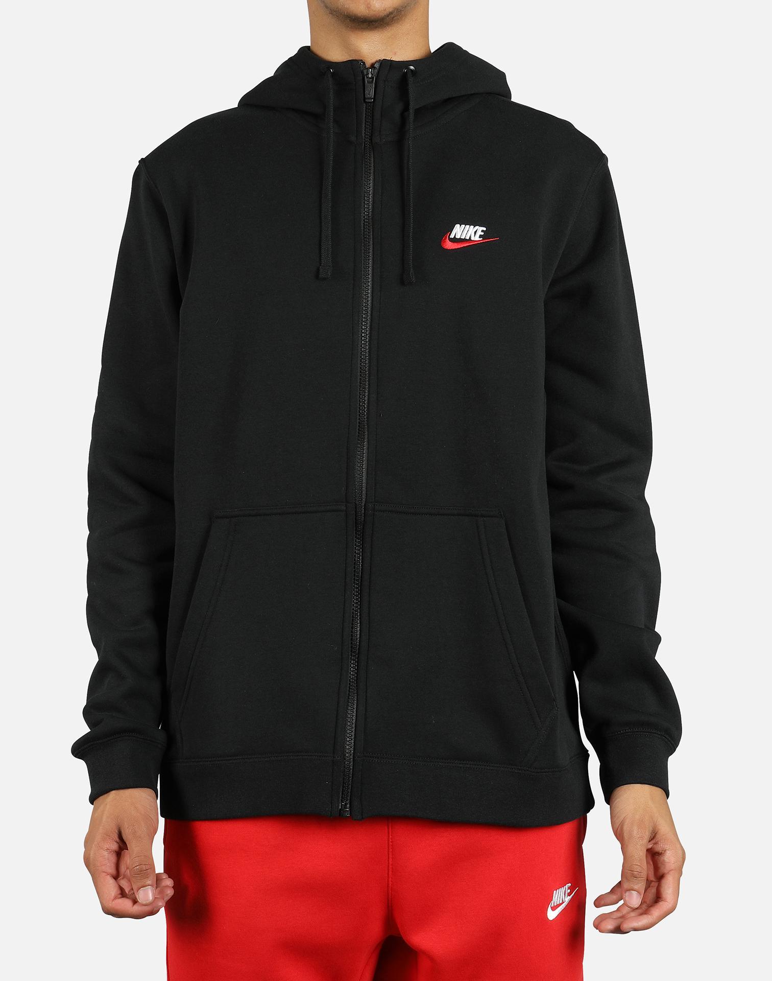 161e2ec297da Lyst - Nike Nsw Club Fleece Full-zip Hoodie in Black for Men