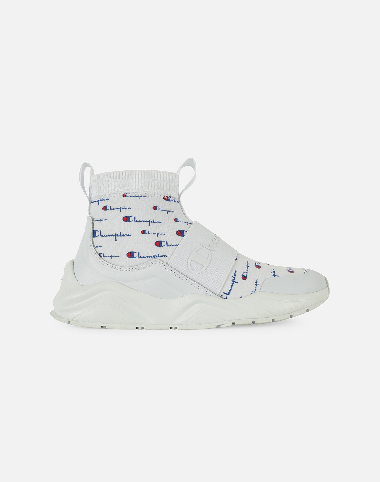 Champion Leather Rally Script in White