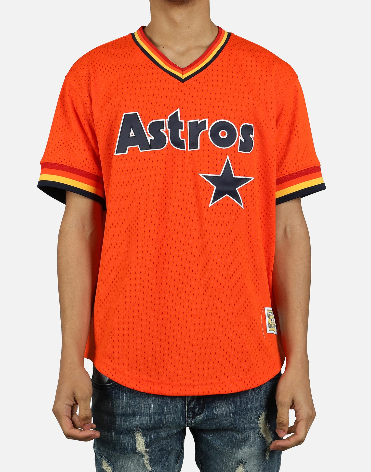 brand new 3d1af 4ae40 Men's Orange Mlb Houston Astros Mesh V-neck Jersey