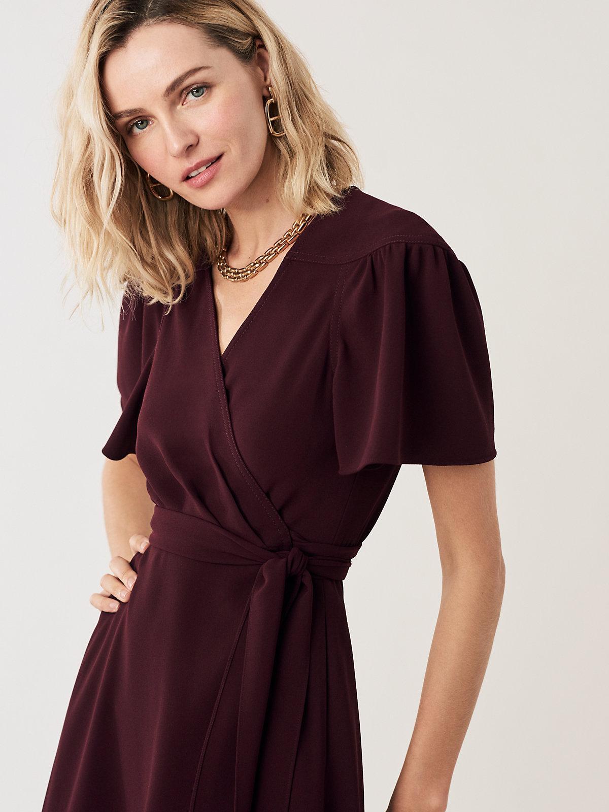 866e5514f9 Diane von Furstenberg - Multicolor Zella Crepe Mini Wrap Dress - Lyst. View  fullscreen