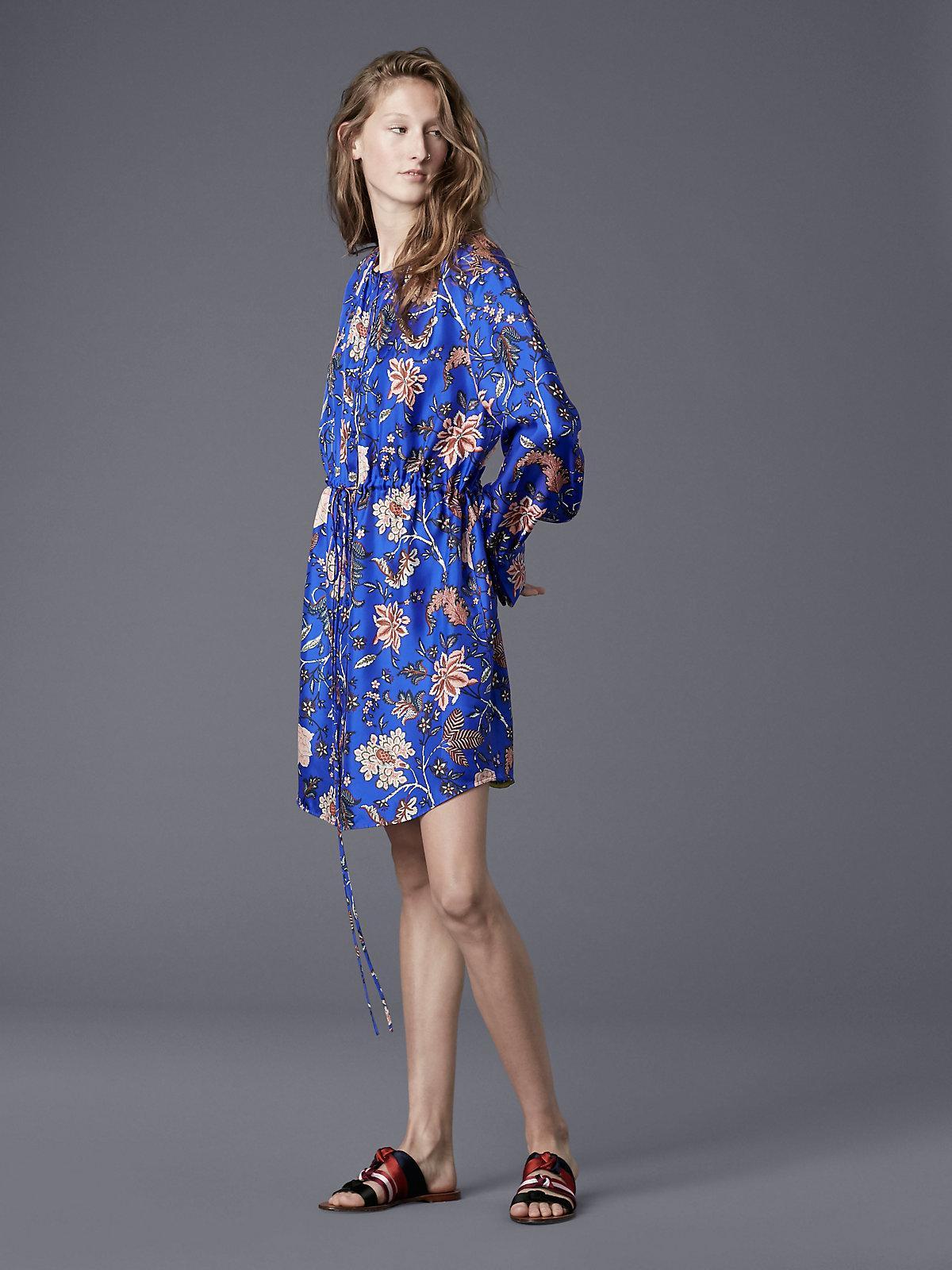 Diane Von Furstenberg Long Sleeve Cinched Waist Shirt