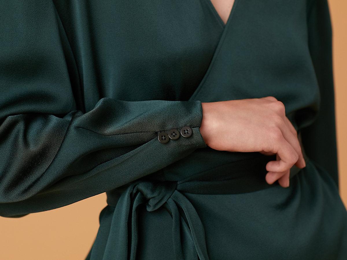 3ce24e5972d97 Diane von Furstenberg - Multicolor Long Sleeve Crossover Tied Blouse -  Lyst. View fullscreen
