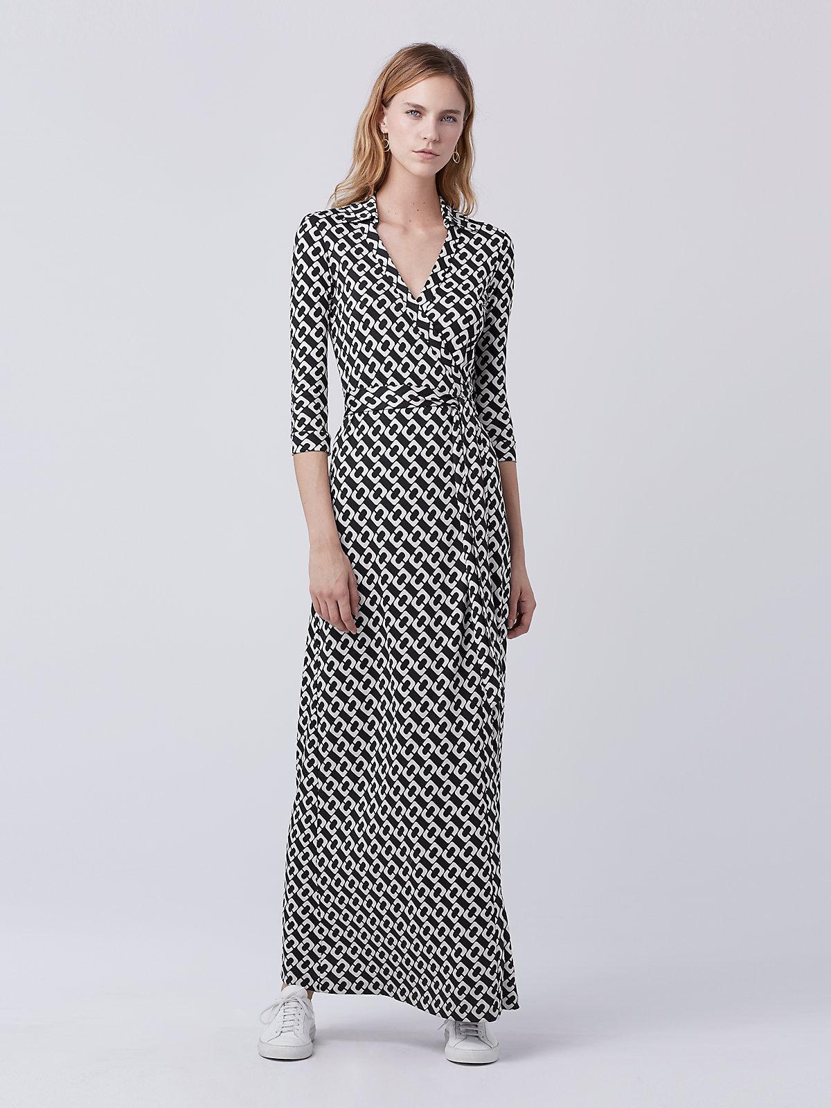 Diane Von Furstenberg Abigail Silk Jersey Wrap Maxi Dress