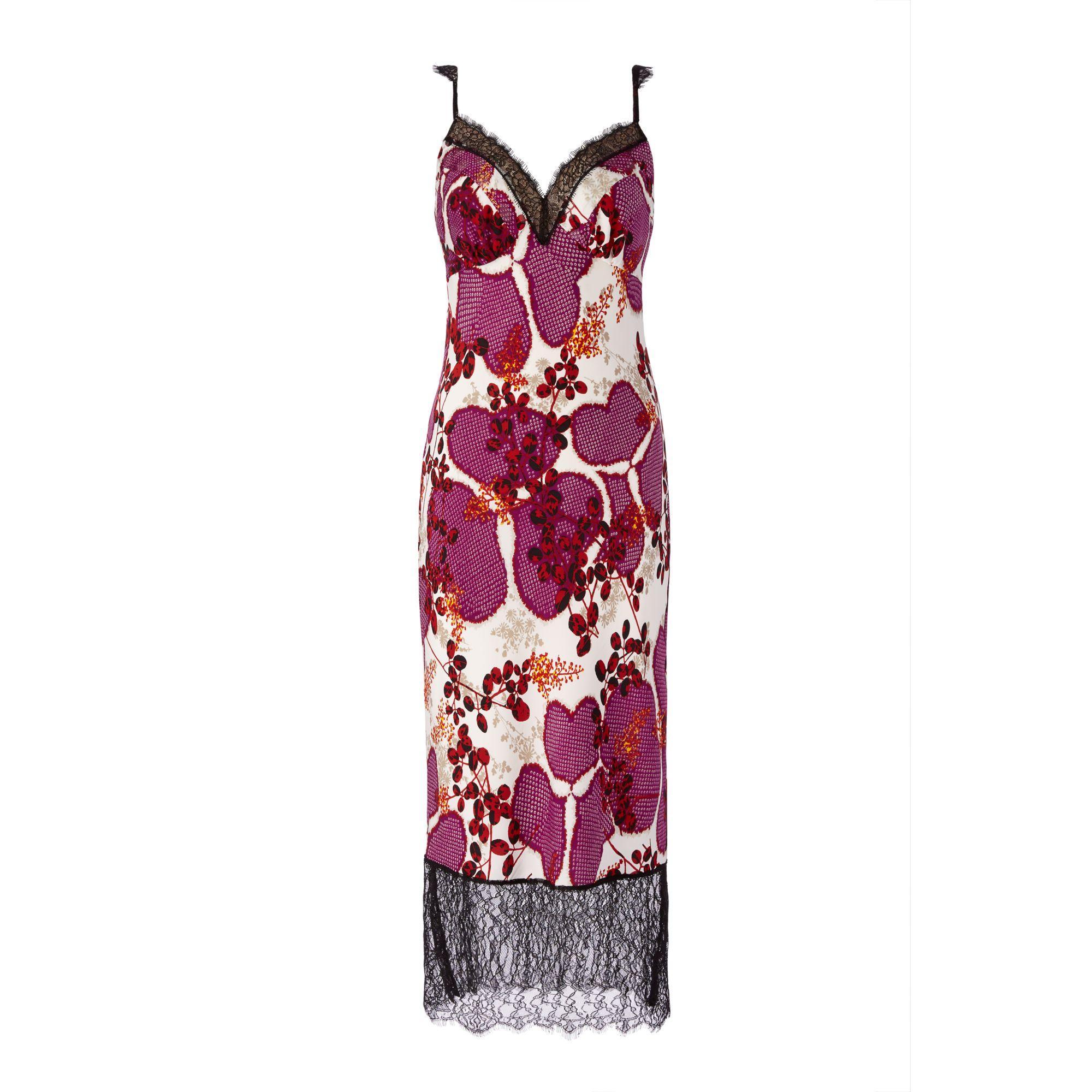 9d6f0e735df47 Diane von Furstenberg Dvf Margarit Silk Slip Dress in Black - Lyst
