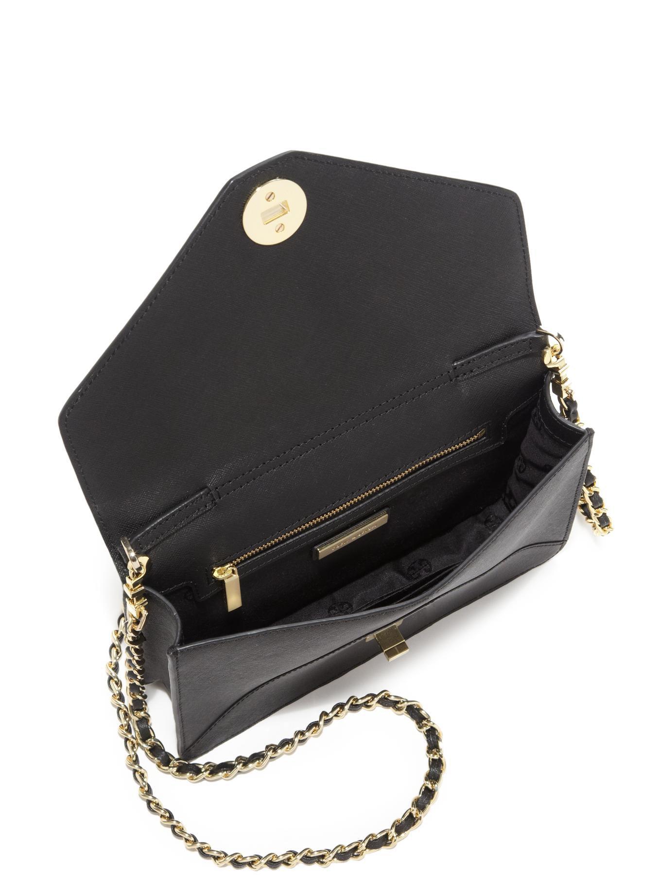 13b3ada3f2c Lyst - Tory Burch Kira Saffiano Envelope Shoulder Bag in Black