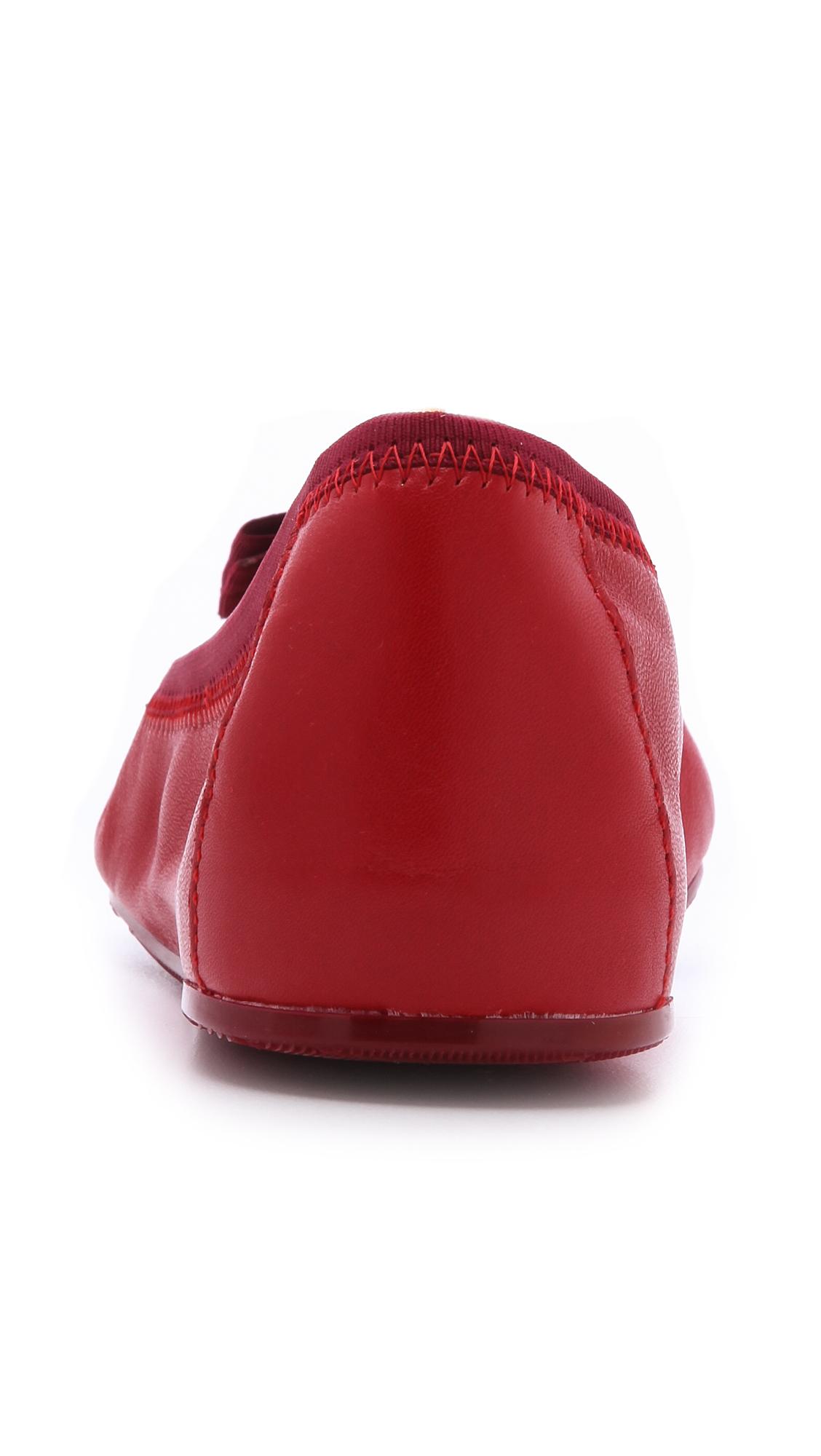 2c5f3d2ba20fd Ferragamo My Joy Ballet Flats - Rosso in Red - Lyst
