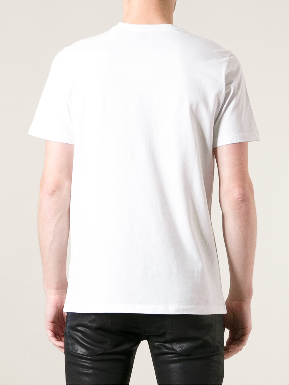Diesel Wolf And Forest Print T Shirt In White For Men Lyst