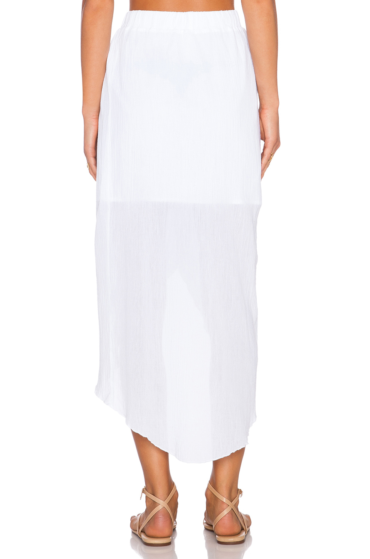 c c california high low maxi skirt in white lyst