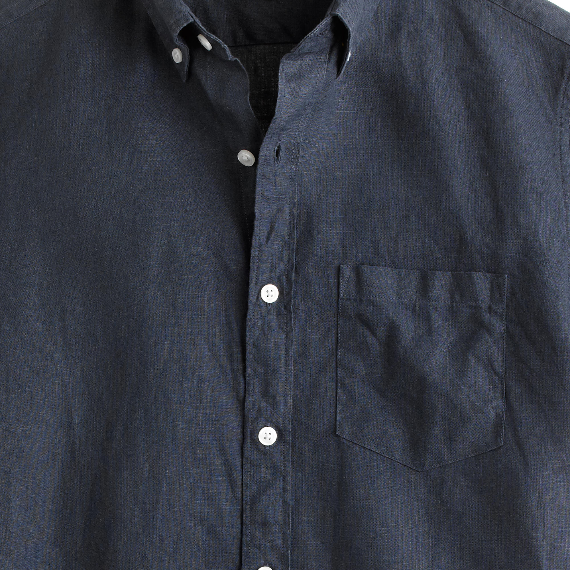 Short sleeve irish linen shirt in blue for men lyst for Tailored fit shirts meaning