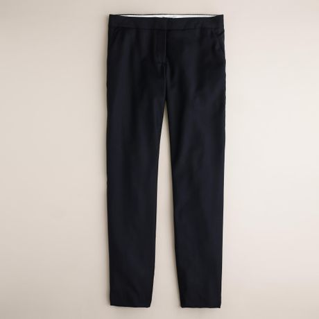 J.crew Tall Paley Pant In Super 120S Wool in Blue (navy)