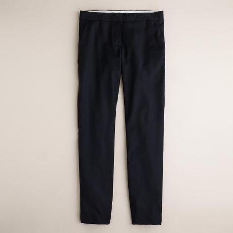 J.crew Petite Paley Pant In Super 120S Wool in Blue (navy)