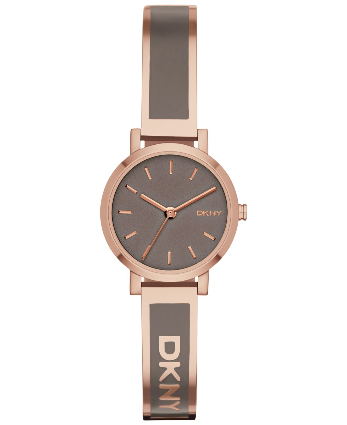 Lyst - DKNY Women s Soho Gray Enamel And Rose Gold-tone Stainless ... 92fef707892