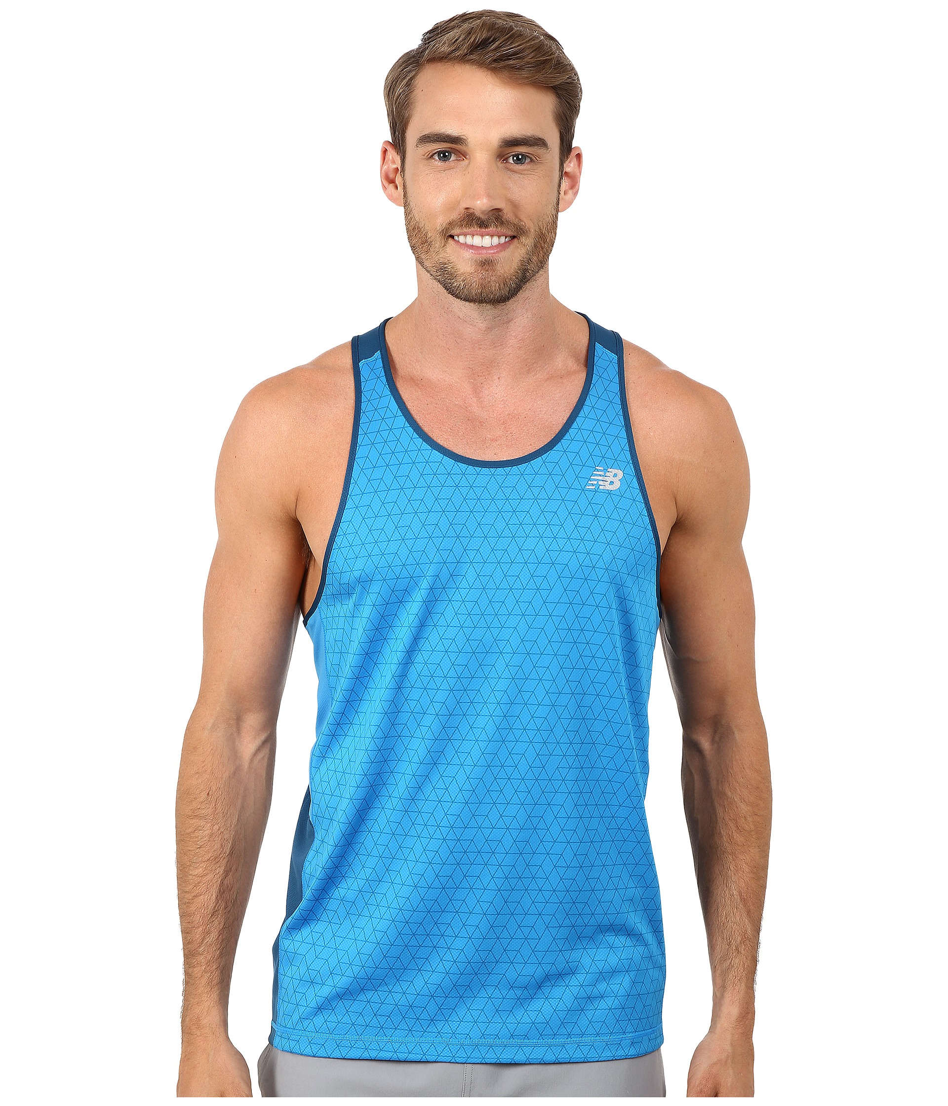 a0a68eef60b0 Lyst - New Balance Nb Ice Singlet in Blue for Men
