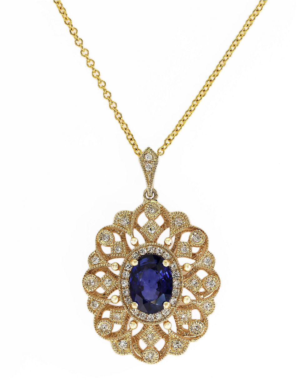 yellow sapphire necklace - photo #43