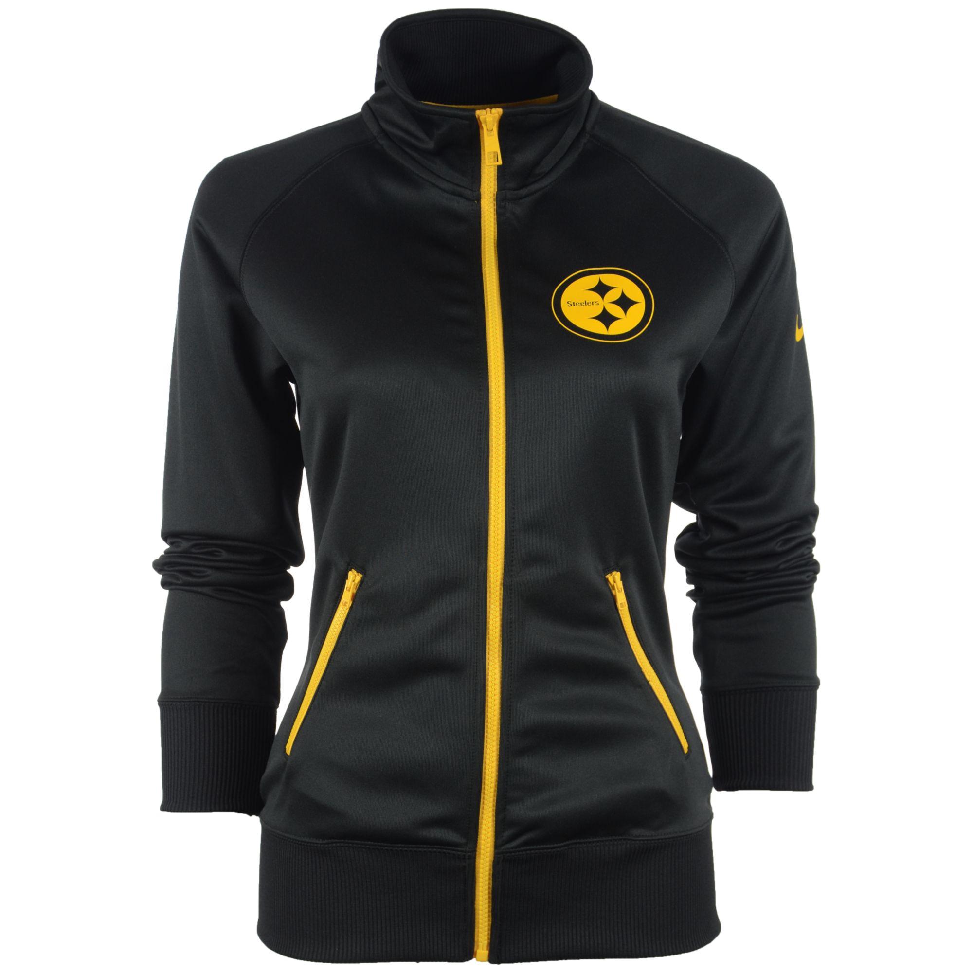 best sneakers 44837 c12aa Nike Black Women's Pittsburgh Steelers Mvp Track Jacket