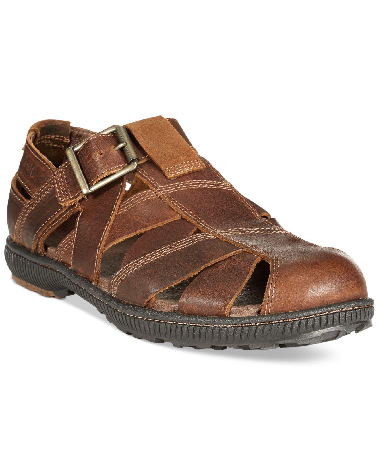 timberland hollbrook fisherman sandals in brown for men lyst. Black Bedroom Furniture Sets. Home Design Ideas