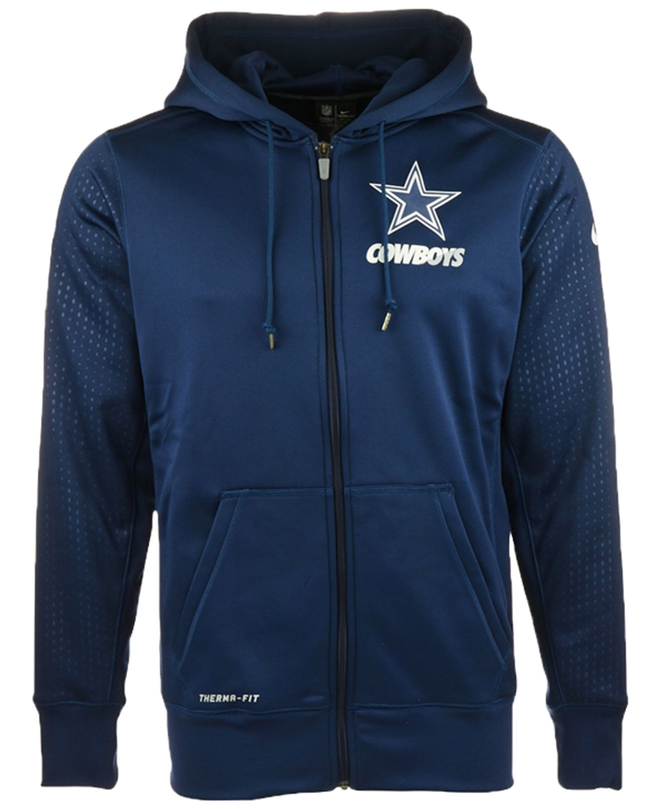 the best attitude 32558 23caa Blue Men's Dallas Cowboys Sideline Ko Fleece Full-zip Hoodie