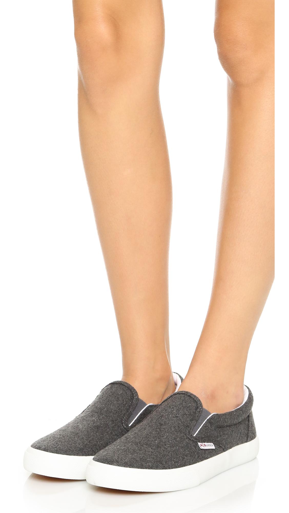 Superga 2311 Wool Slip On Sneakers in
