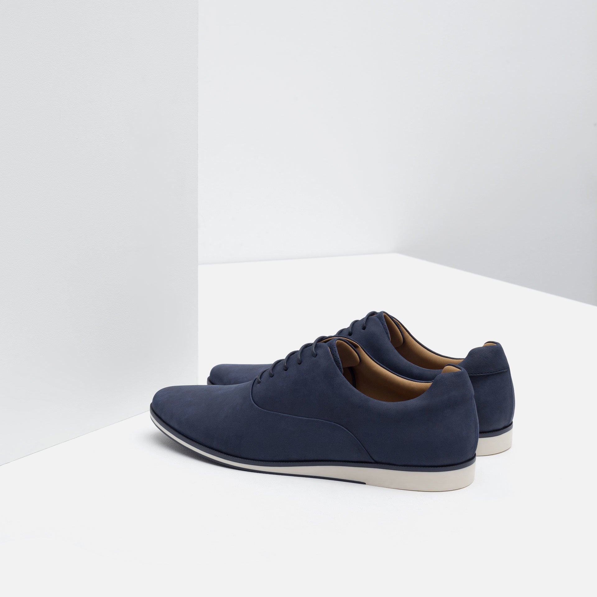 Zara Oxford Style Casual Shoes For Men | Lyst