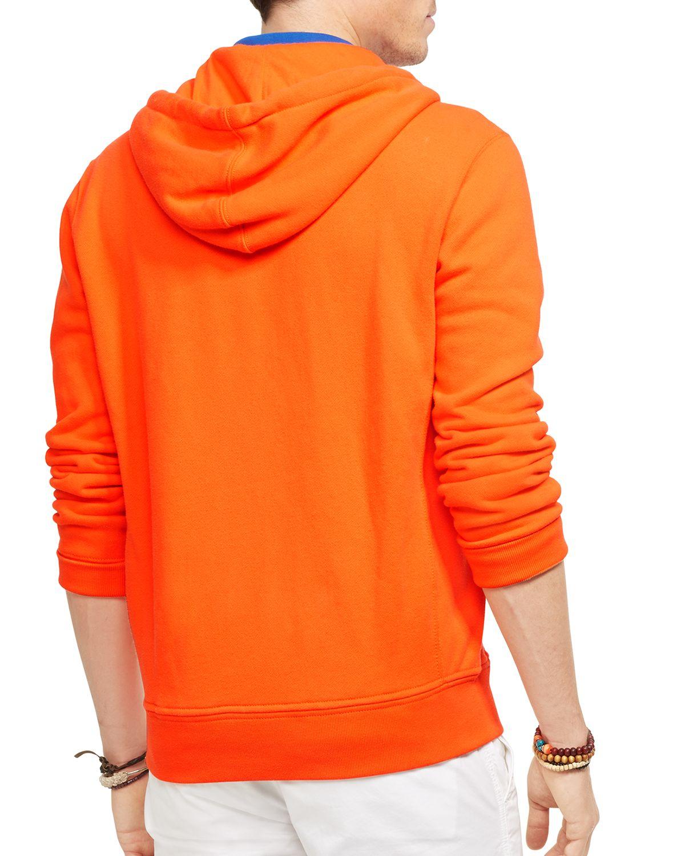 Ralph lauren Polo Full-Zip Classic Fleece Hoodie in Orange ...