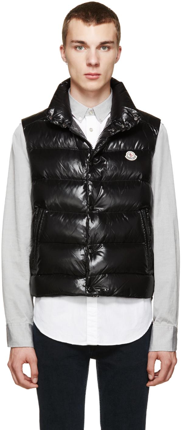 bd07e16f6 Moncler Black Shiny Tib Down Vest for men