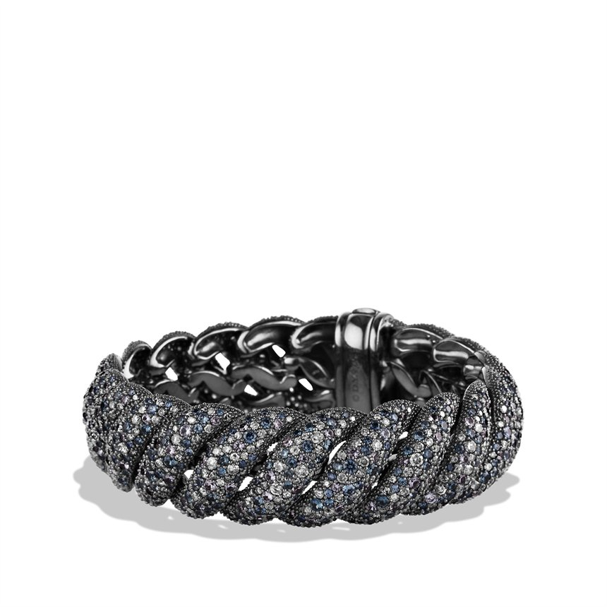 Lyst david yurman hampton cable bracelet with gray for David yurman like bracelets