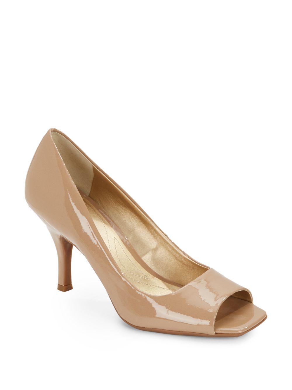 Tahari Riddle Patent Leather Peep-toe
