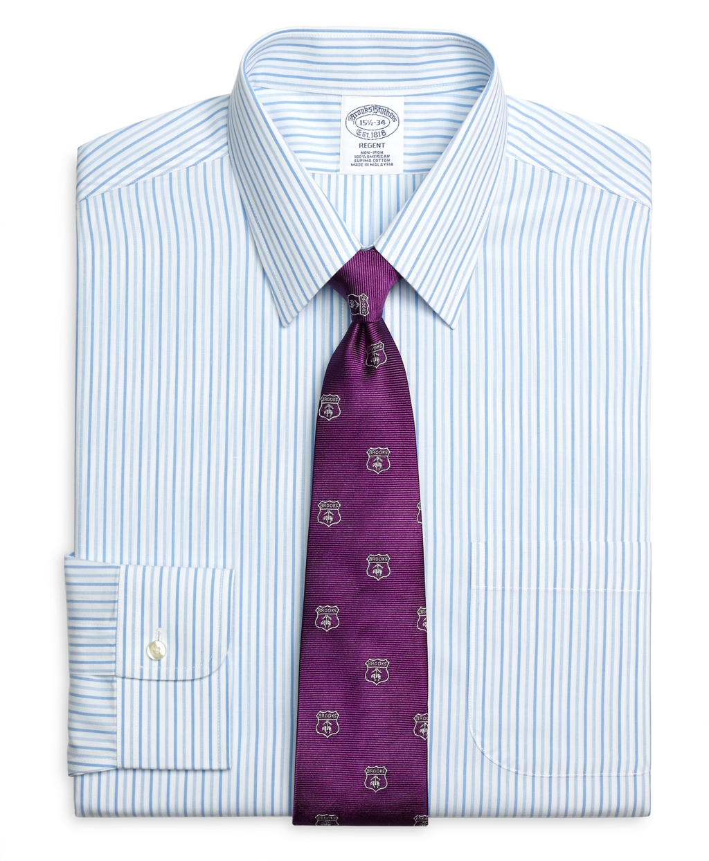Brooks brothers non iron regent fit bold stripe dress for Brooks brothers non iron shirts review
