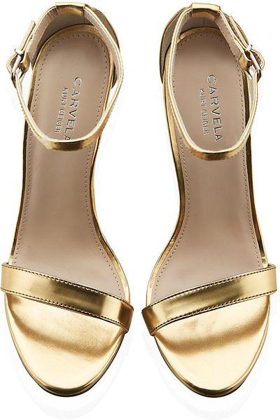 Carvela Kurt Geiger Glacier Sandals In Gold Lyst