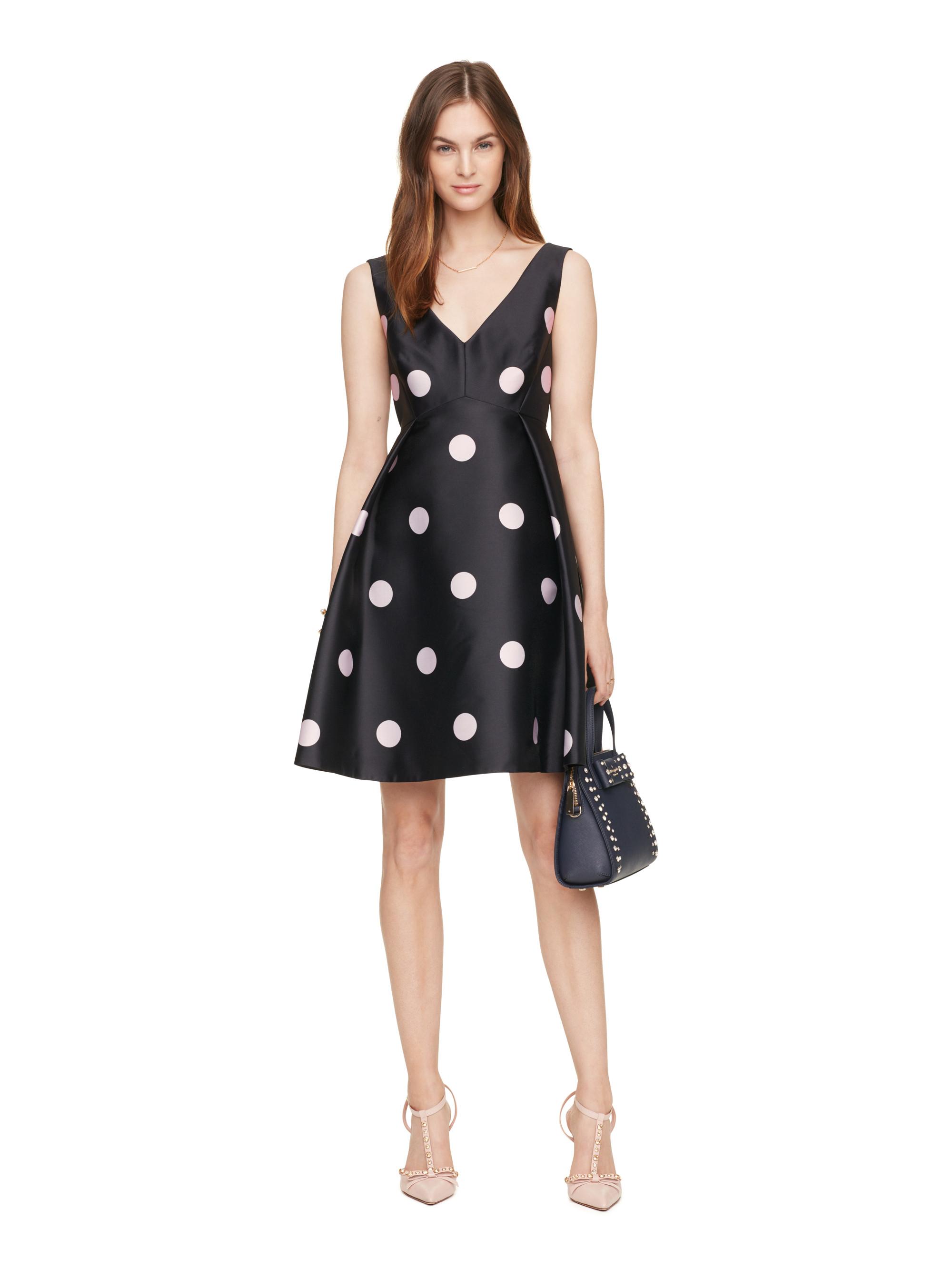 Kate Spade Spotlight V Neck Dress In Blue Lyst