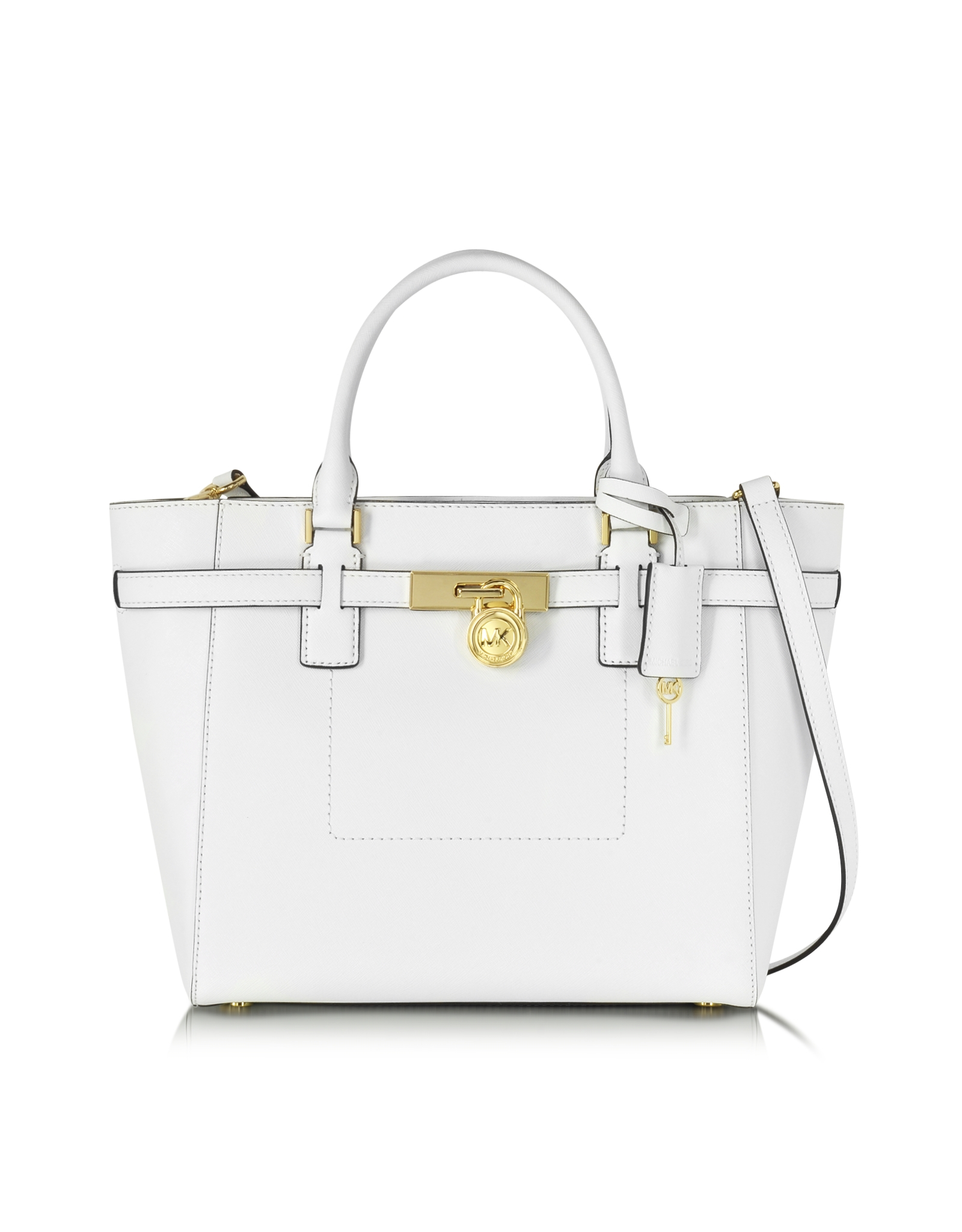 Michael kors Hamilton Saffiano Leather Large Top Zip Tote Bag in ...