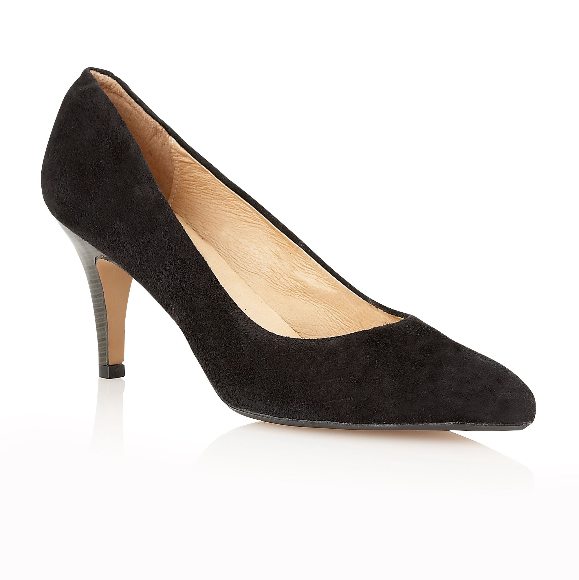 lotus drama high heel court shoes in black lyst